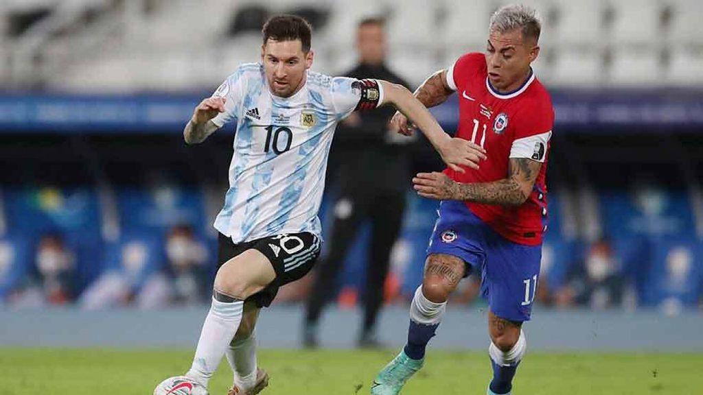 Argentina empató en su debut 1-1 contra Chile en la Copa América