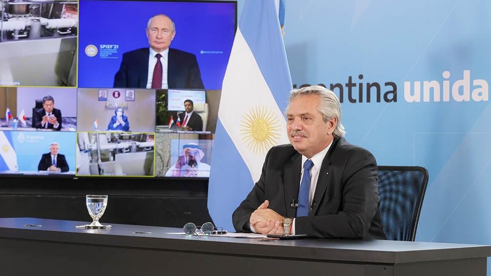 Junto a Putin, Alberto Fernández anunció la producción de Sputnik V en la Argentina