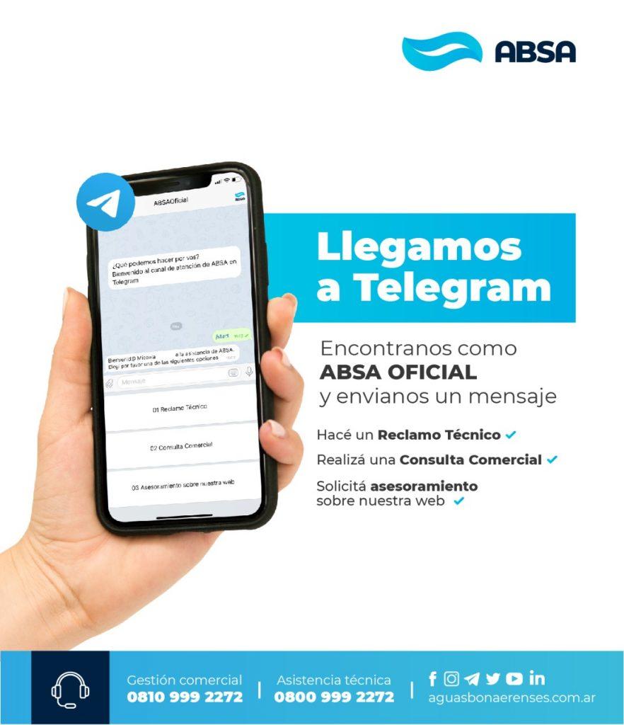 ABSA suma a Telegram como un nuevo canal de atención al usuario