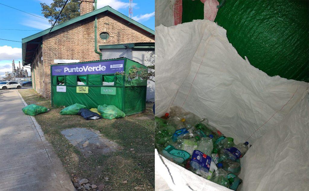 Puntos Verdes: reiteran la importancia de depositar los residuos reciclables correctamente