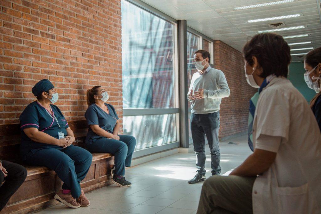 El Intendente reconoció y agradeció el trabajo del Servicio de Clínica Médica del hospital en medio de la segunda ola