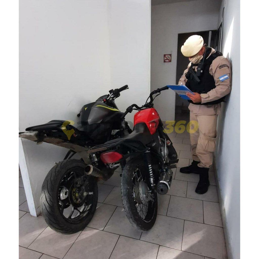 Personal policial recuperó dos motocicletas robadas en diferentes procedimientos