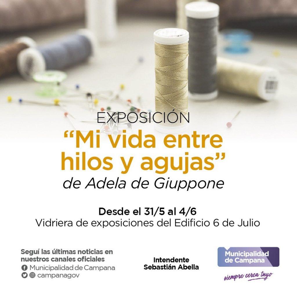 """La exposición """"Mi vida entre hilos y agujas"""" se presenta en el Edificio 6 de Julio"""