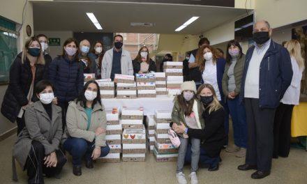 La comunidad educativa del colegio Aníbal Di Francia donó 300 desayunos para el personal de salud