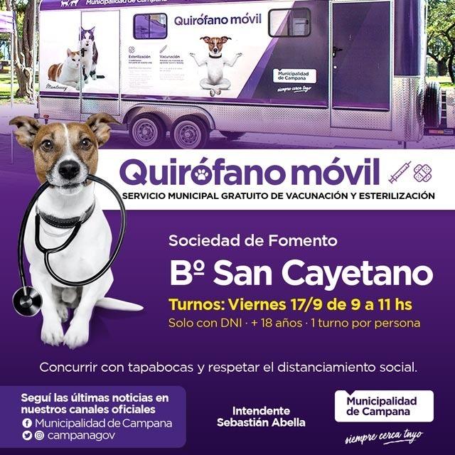 San Cayetano: mañana se entregarán turnos para las castraciones gratuitas
